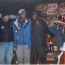 Russell, Phurba and one of the Tibetan staff dance at the end of expedition party