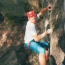 Climbing in Harrison's Rocks, UK 6c+, 1991
