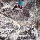 Climbing at Malham Cove, 1991