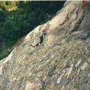 Climbing in Verdon, 1990