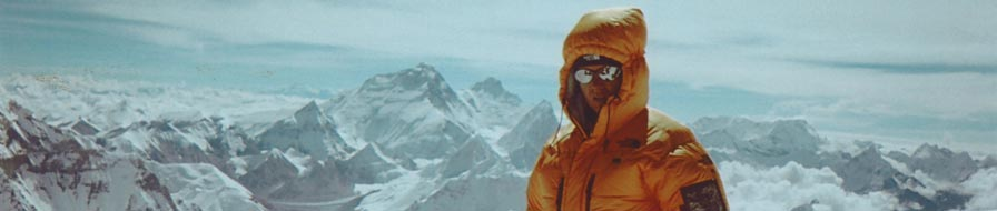 Me on the summit of Cho Oyu with Everest in the background