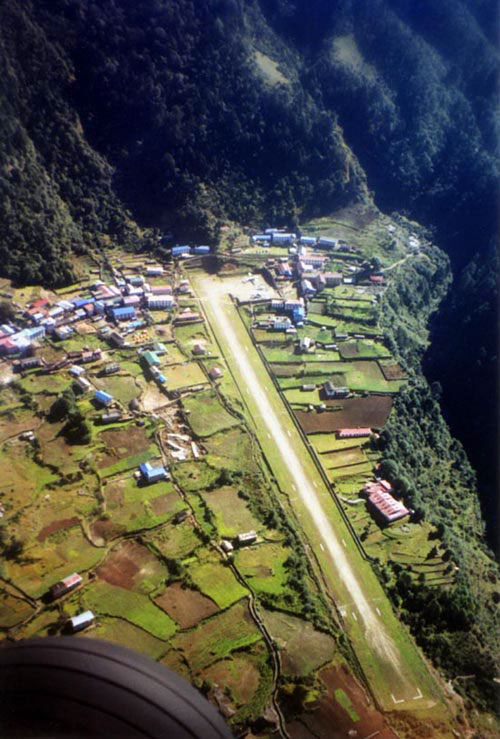 The landing strip at Lukla