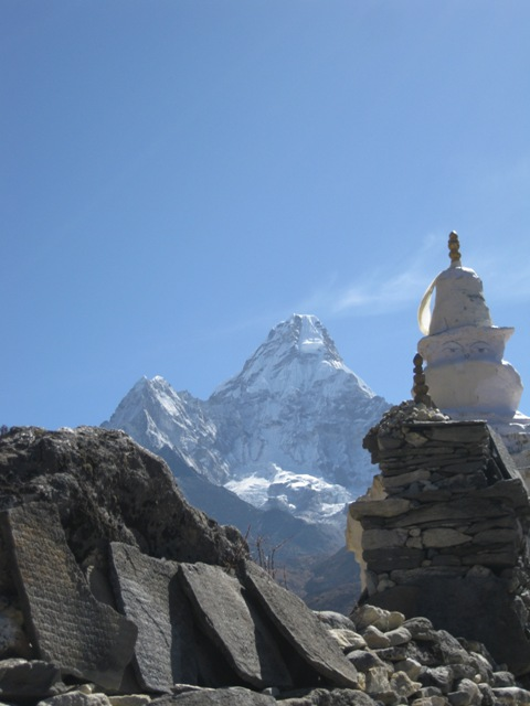 The stunning Ama Dablam from the trail to Dingboche