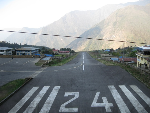 Lukla: Taken from the end of the runway