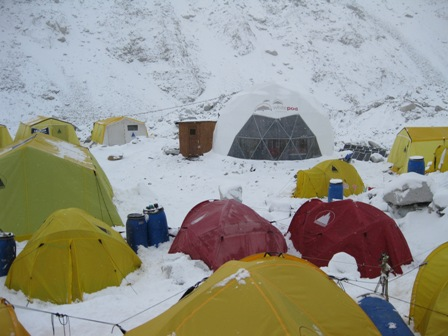Our Base Camp under the snow