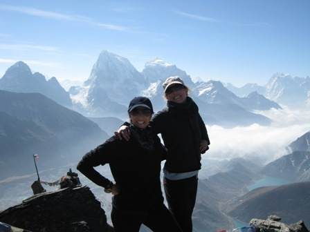 Cheesy grins on top of Gokyo-Ri