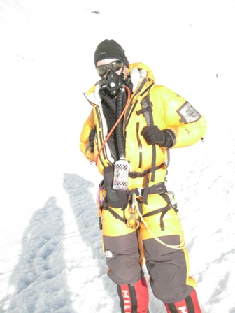 Arrivng exhasuted at Camp 2 at the end of a long summit day - 6.30pm, 21 May