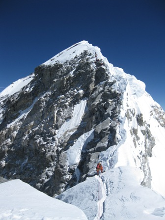 Everest summit ridge from South Summit - 21 May