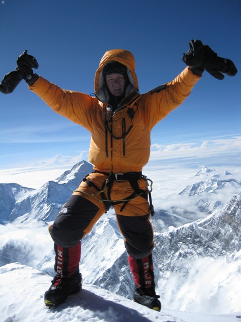 Me stepping onto the summit of Everest - 7.14am, 21 May 2009